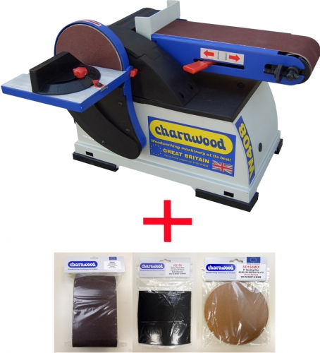 "Charnwood Woodworking Disc and Belt Sander 6"" Bundle"