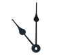 "Clock Hands: Black Elegant 2 7/8""(73mm)"
