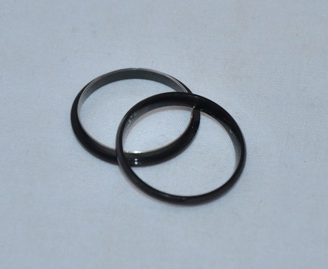 Black Comfort Ring Core: Size 9