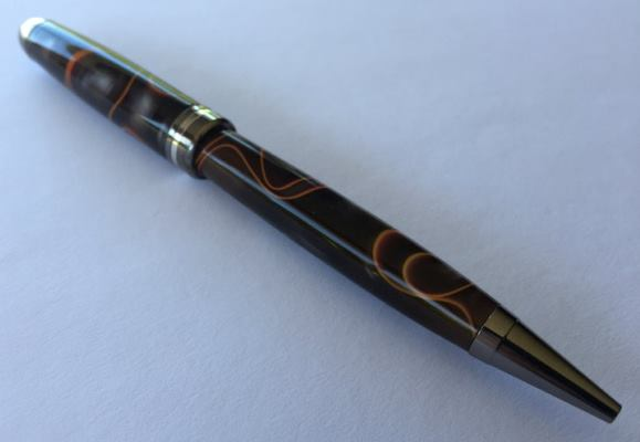 Economy Euro TWIST Pen Kit: Black Titanium