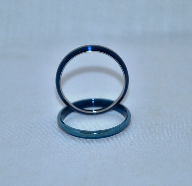 Titanium Blue Comfort Ring Core: Size 7
