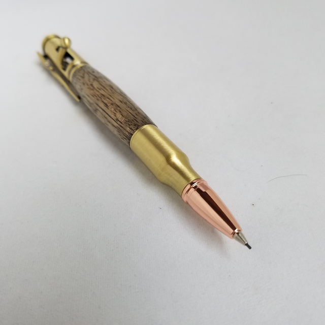 Premium Bolt-Action Pencil Kit: Antique Brass
