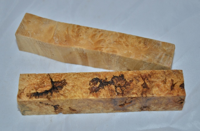 Premium Wood Pen Blank: Box Elder Burl (Stabilised)