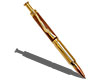 Premium Bullet-Style Click Pencil Kit: 24K Gold