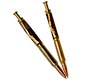 Premium Bullet-Style Click Pen & Pencil Set: 24K Gold