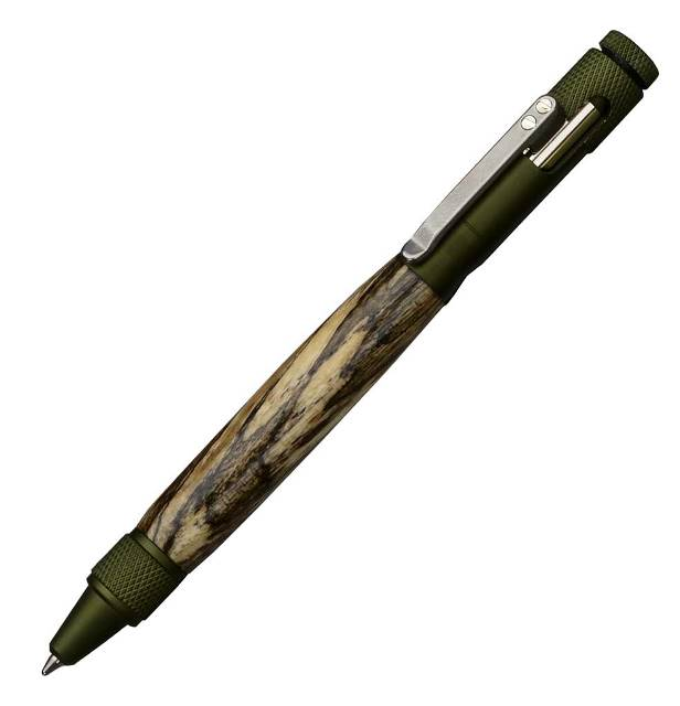 Premium Clip Bolt-Action Pen Kit: Green Anodized Aluminum