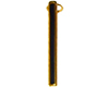 Pen Clip for Slimline Pen/Pencil: 12K Gold with Black Stripe