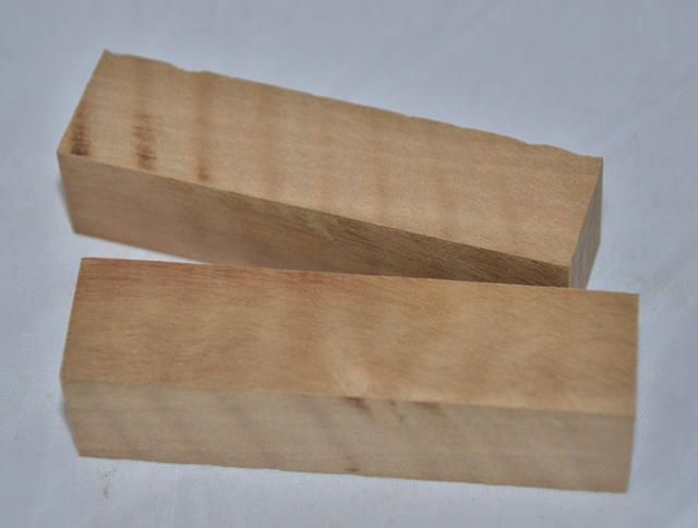 Premium Wood Pen Blank: Curly Wild Pear (80 mm) - Click Image to Close