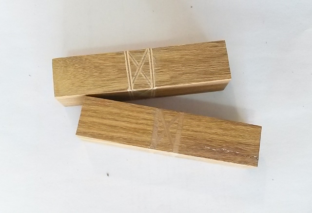 Wood Pen Blank: Celtic Knot Currywood (Short)