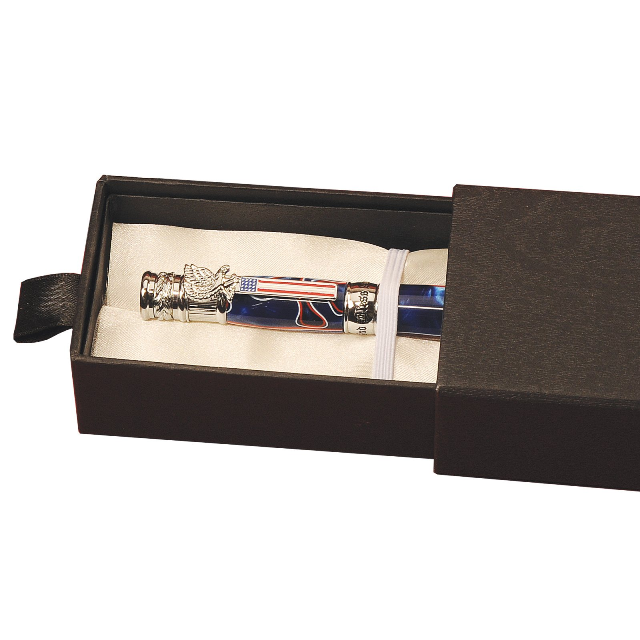 Pen Box: Deep Pocket ( White Satin Interior)