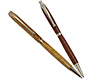 Premium Fancy Twist Pen and Pencil Set: Chrome