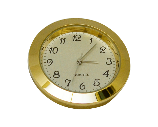 Economy Clock Insert: Gold 43mm Diameter Gold Face