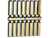 Clock Numerals: 25.5mm Bar - Gold Plastic