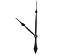 "Clock Hands: Black Takane 17 3/4"" (450mm) High Torque"