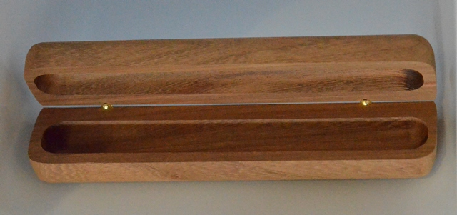 Single Wooden Pen Box (Extra Long Pen): Kiaat