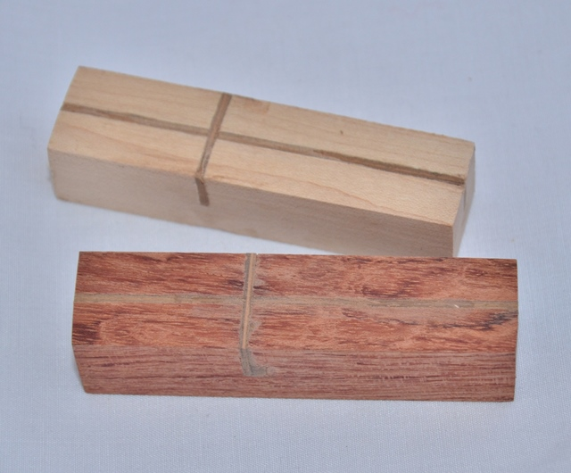 Premium Wood Pen Blank: Laminated - Cross (80mm)