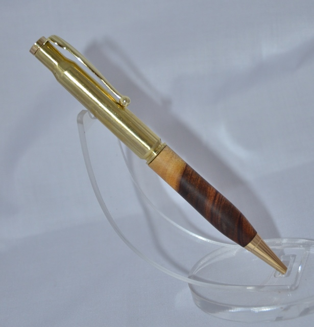 Fancy .30-06 Spent Cartridge Pen Kit: Gold (Bottom)