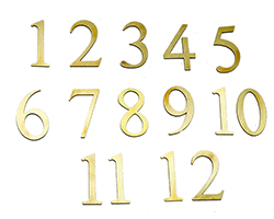 Arabic Numeral - Milled Brass