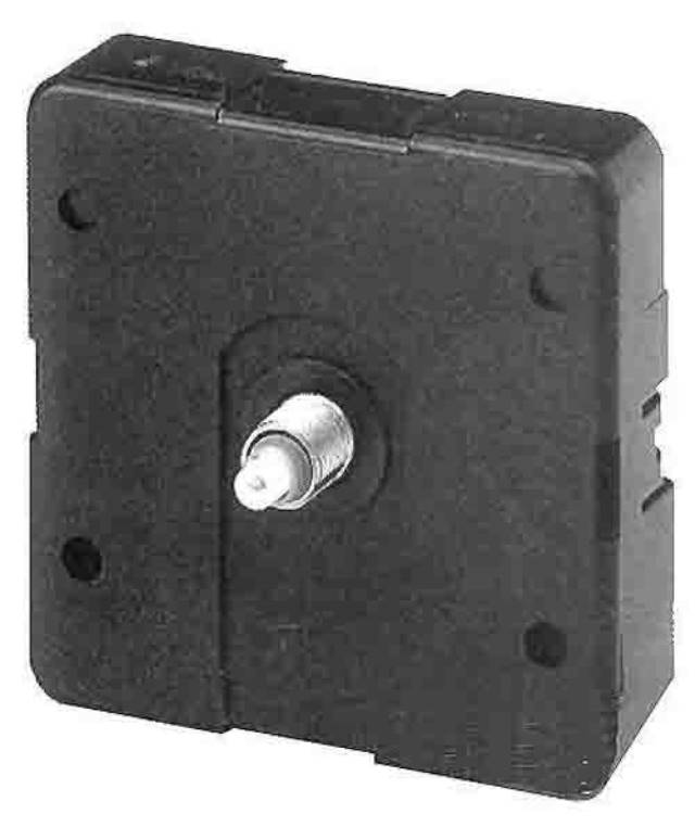 "Clock Movement: Push-on Mini Quartz Motor With 1/2"" (12.7mm) Shaft"