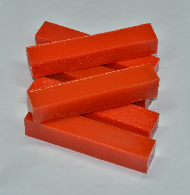 Acrylic Pen Blank: Orange