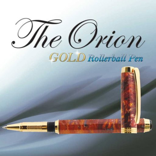 Premium Orion Rollerball Pen Kit: Gold