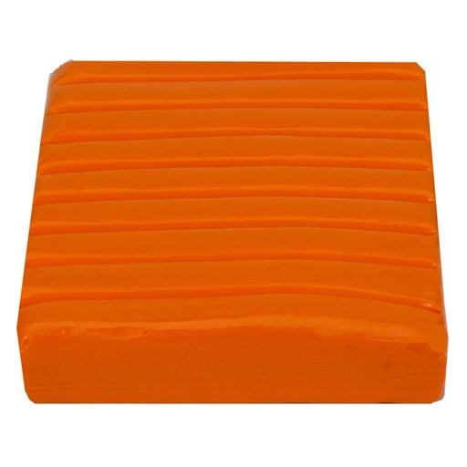 Polymer Clay Brick 56g.: Orange