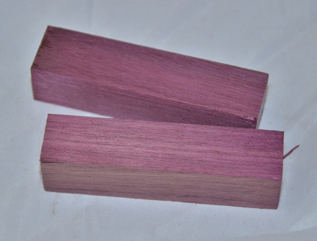 Premium Wood Pen Blank: Purple Heart (80mm)