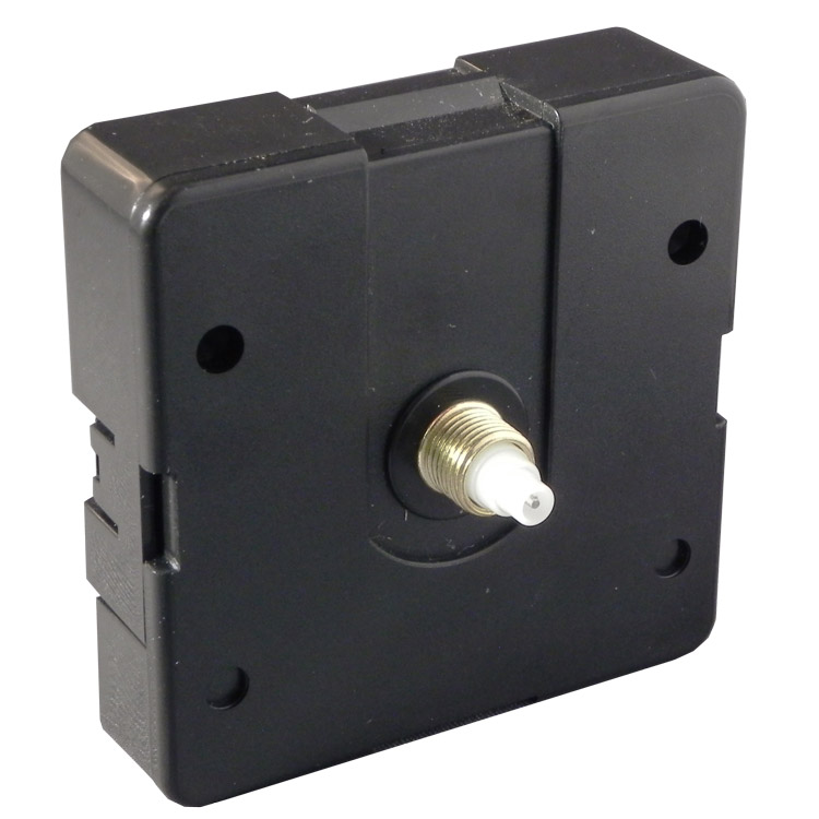 "Clock Movement: Push-on Quartz Motor With 1/2"" (12.7mm) Shaft"