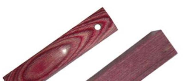 Wood Pen Blank: Red