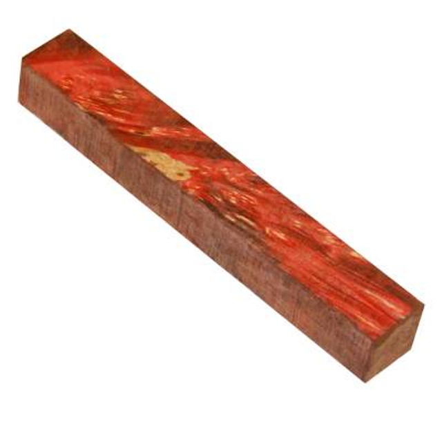 Premium Wood Pen Blank: Red Maple Burl (Stabilised)