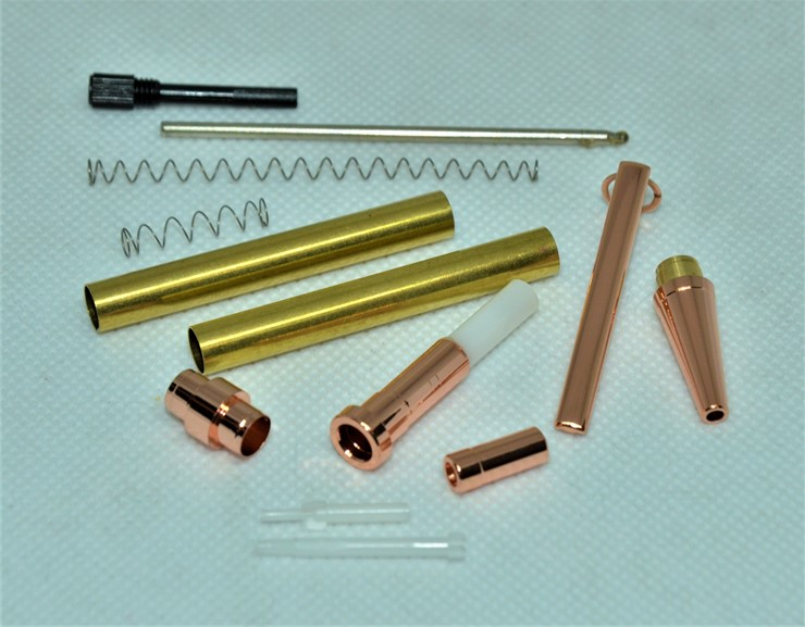 Economy Slimline CLICK Pen Kit: Copper