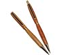 Premium Slimline Twist Pen and Pencil Set: Chrome
