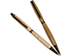 Premium Slimline Twist Pen and Pencil Set: Gun Metal