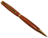 Premium Slimline Twist Pen Kit: 24K Gold