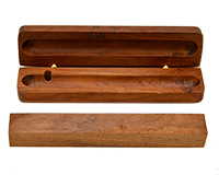 Single Wooden Pen Box (Bolt-Action): Rhodesian Teak