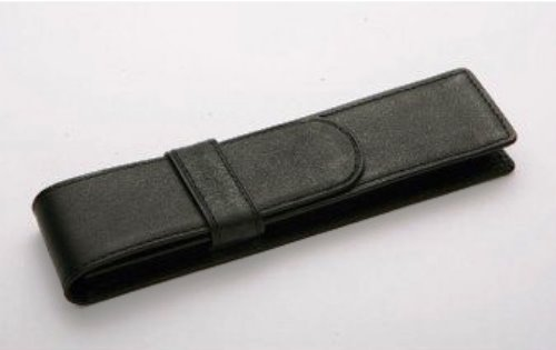 Black Leather Pen Case