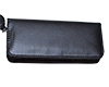 Leather Pen Wallet: Double - Black