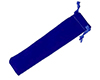 Large Velvet Pen Bag: Blue