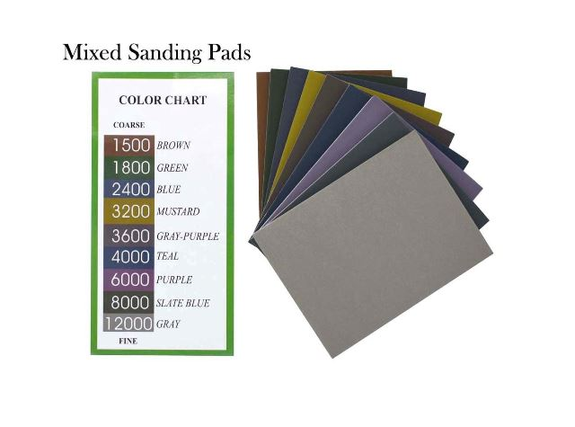Mixed Sanding Pads: Sponge-Backed