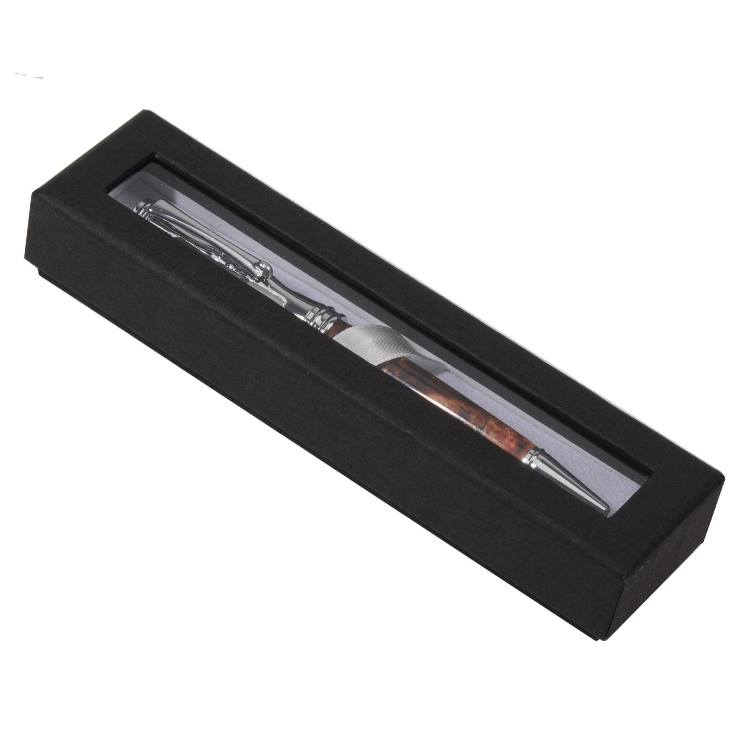 Single Window Pen Box: Black