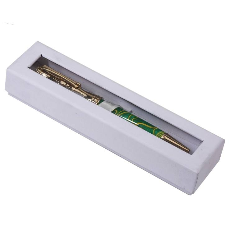 Single Window Pen Box: White
