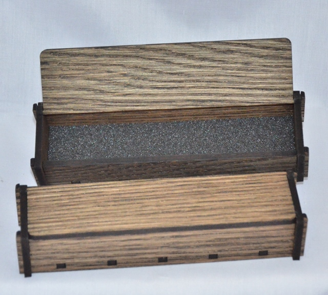 Single Wooden Pen Box: White Oak Black