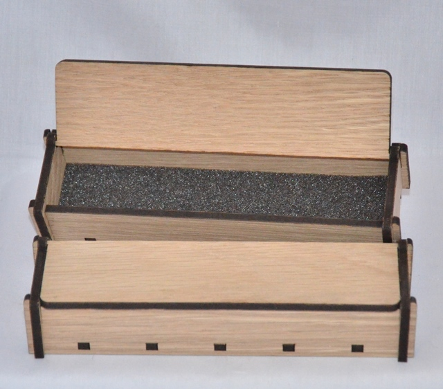 Single Wooden Pen Box: White Oak Raw